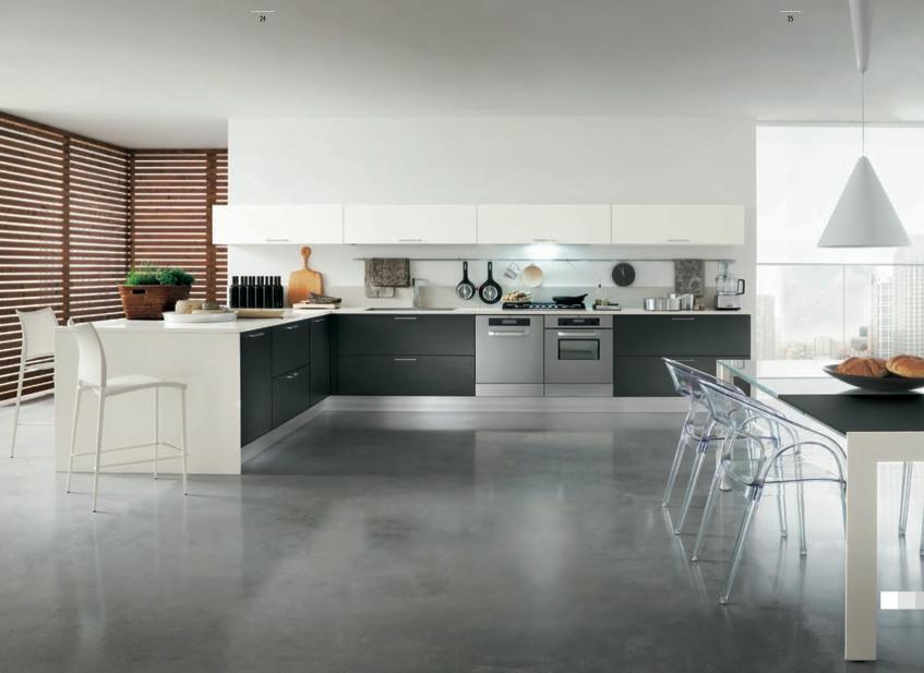 Cocina diseño moderno blanco y negro – Muebles Toscana Guinea