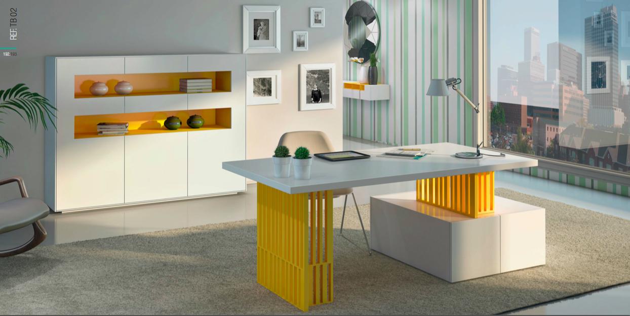 Mobiliario De Oficina Amarillo Y Blanco Muebles Toscana Guinea