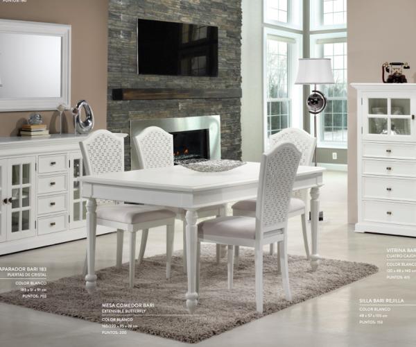 Muebles blancos, comedor colonial – Muebles Toscana Guinea