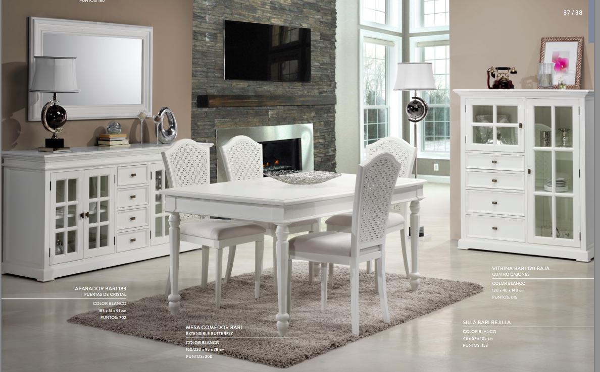 Muebles blancos para comedor estilo colonial