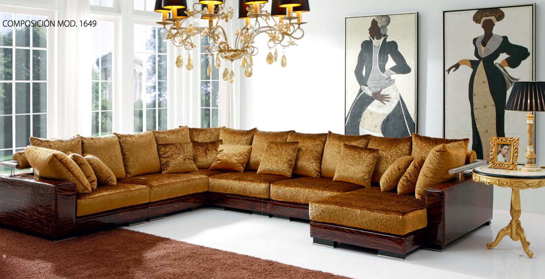 Sofá estilo clásico con chaise longue – Muebles Toscana Guinea