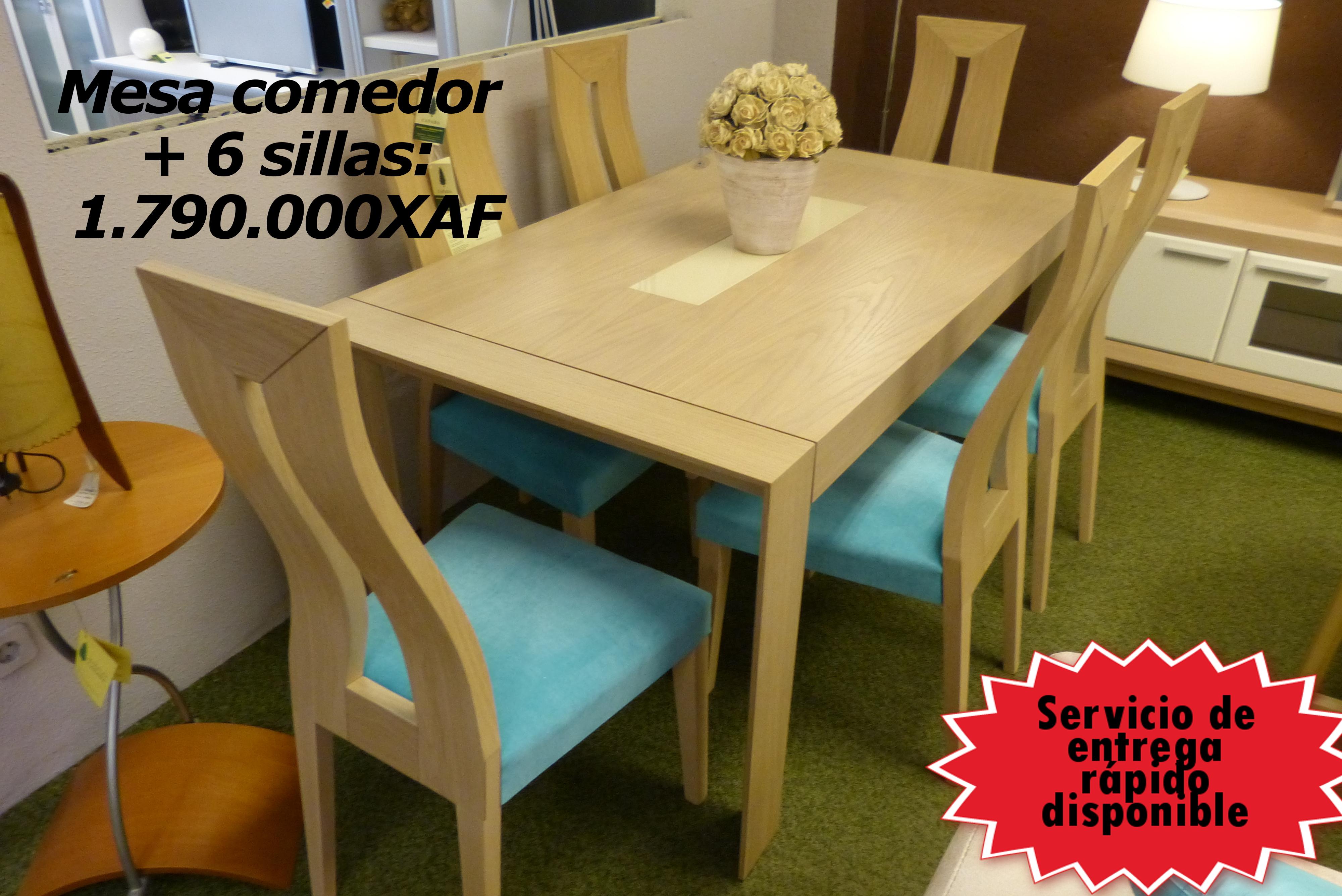 Mesa comedor + 6 sillas - Muebles Toscana Guinea